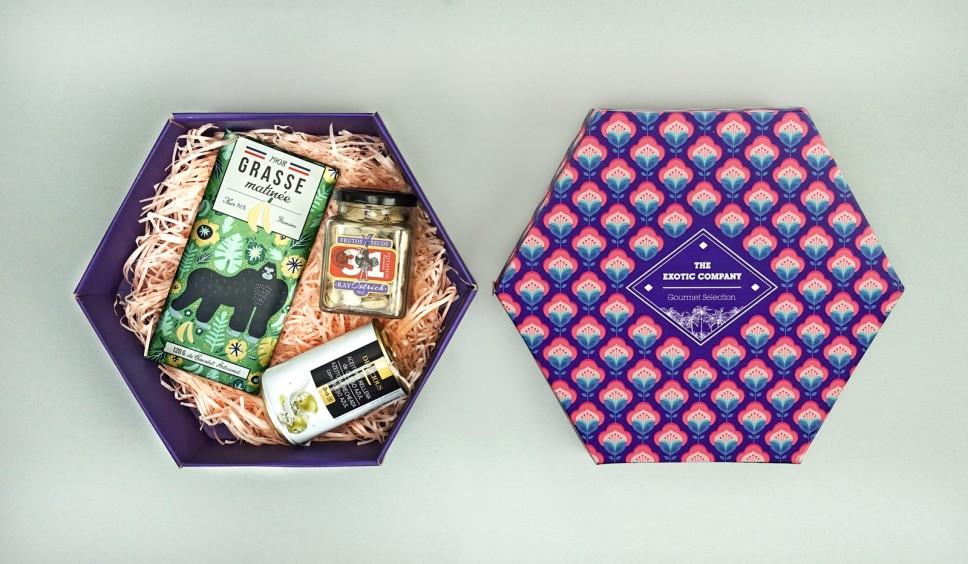 infopacklatino caja hexagonal de cartón